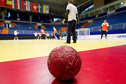 Ball during practice session of Slovenia National Handball team during 10th EHF European Handball Championship Serbia 2012, on January 17, 2012 in Millennium Center, Vrsac, Serbia. (Photo By Vid Ponikvar / Sportida.com)