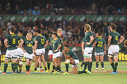 Pretoria, Loftus Versveld Stadium. Rugby Championship. South African Springboks vs New Zealand All Blacks.  06-10-18 A deflated Springbok team after losing to the All Blacks in the closing minutes.<br /> Picture: Karen Sandison/African News Agency(ANA)