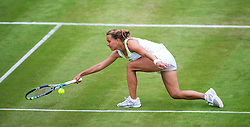 LONDON, ENGLAND - Tuesday, June 26, 2012: Barbora Zahlavova Strycova (CZE) during the Ladies' Singles 1st Round match on day two of the Wimbledon Lawn Tennis Championships at the All England Lawn Tennis and Croquet Club. (Pic by David Rawcliffe/Propaganda)