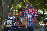 Ekeba Dixon-Durio and family, Sept. 4, 2010 in Antioch, CA. (©2010 Kevin Bartram/All Rights Reserved)