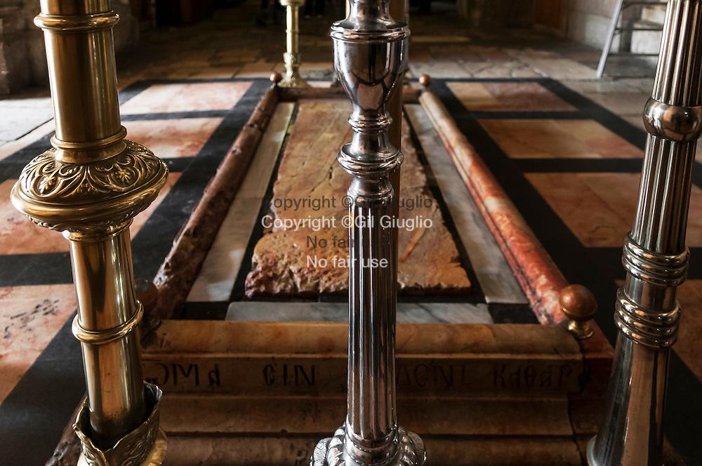 Israël, Jérusalem, vielle ville classé au patrimoine mondial de l'Unesco, Saint-Sépulcre où est le tombeau du Christ, Golgota // Israel, Jerusalem at the world heritage patrimony of Unesco, Holy Sepulchre, Golgota
