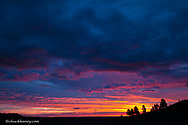 Sunrise skies light up near Ekalaka, Montana, USA