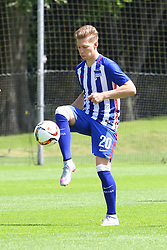 28.06.2015, Olympiapark Berlin, Berlin, GER, 1. FBL, Hertha BSC, Trainingsauftakt, im Bild Mitchell Weiser (#20, Hertha BSC Berlin) // during a traning session of German 1st Bundeliga Club Hertha BSC in Olympiapark Berlin in Berlin, Germany on 2015/06/28. EXPA Pictures © 2015, PhotoCredit: EXPA/ Eibner-Pressefoto/ Hundt<br /> <br /> *****ATTENTION - OUT of GER*****