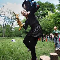 Nederland, Amsterdam , 2 juni 2012..Het Vliegenbos in Amsterdam Noord is jarig..Ze viert haar 100 jarig bestaan..In het bos zijn diverse activiteiten voor groot en klein, performances en muzikale optredens..Foto:Jean-Pierre Jans