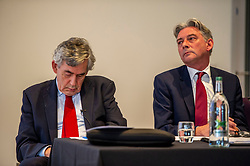 Pictured: Gordon  Brown and Richard Leonard<br /><br />Gordon Brown addressed thenew Scottish think tank seminar today.  He was joined by Shadow Scottish secretary Lesley Laird and Scottish Labour leader Richard Leonard who also spoke at the inaugural meeting of Our Scottish Future<br /><br />Ger Harley | EEm 30 August 2019