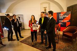 Zoran Jankovic Mayor at Count down ceremony to CEV Euro Volley 2019 in Ljubljana, Slovenia.