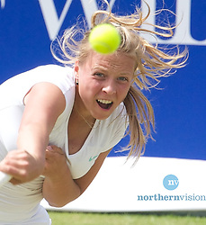LIVERPOOL, ENGLAND - Friday, June 21, 2013: Anett Kontaveit during Day Two of the Liverpool Hope University International Tennis Tournament at Calderstones Park. (Pic by David Rawcliffe/Propaganda)