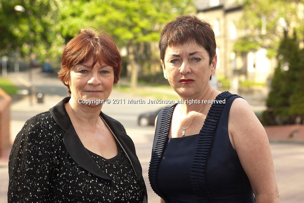 Christine Blower, NUT General Secretary and Mary Bousted, ATL General Secretary, at the NUT Conference 2011.