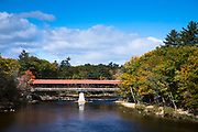 Swift River Bridge built 19th Century a covered bridge at Conway, New Hampshire, USA