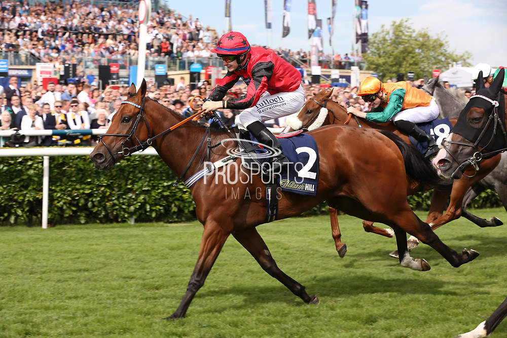 OXTED (2) ridden by Cieren Fallon and trained by Roger Teal winning The William Hill Portland Handicap Stakes over 5f (£60,000)   during the fourth and final day of the St Leger Festival at Doncaster Racecourse, Doncaster, United Kingdom on 14 September 2019.