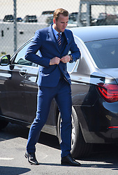 © Licensed to London News Pictures. 06/06/2016. Luton, UK. England striker HARRY KANE arrives at the airport, before Members of England national football squad board a plane at Luton airport in Bedfordshire, England, to head for their training camp in France, ahead of the start of the UEFA Euro 2016 championships.  Photo credit: Ben Cawthra/LNP