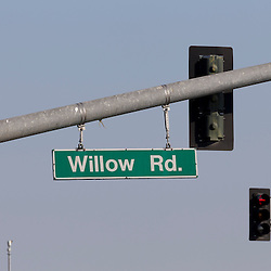 Willow Road Sign