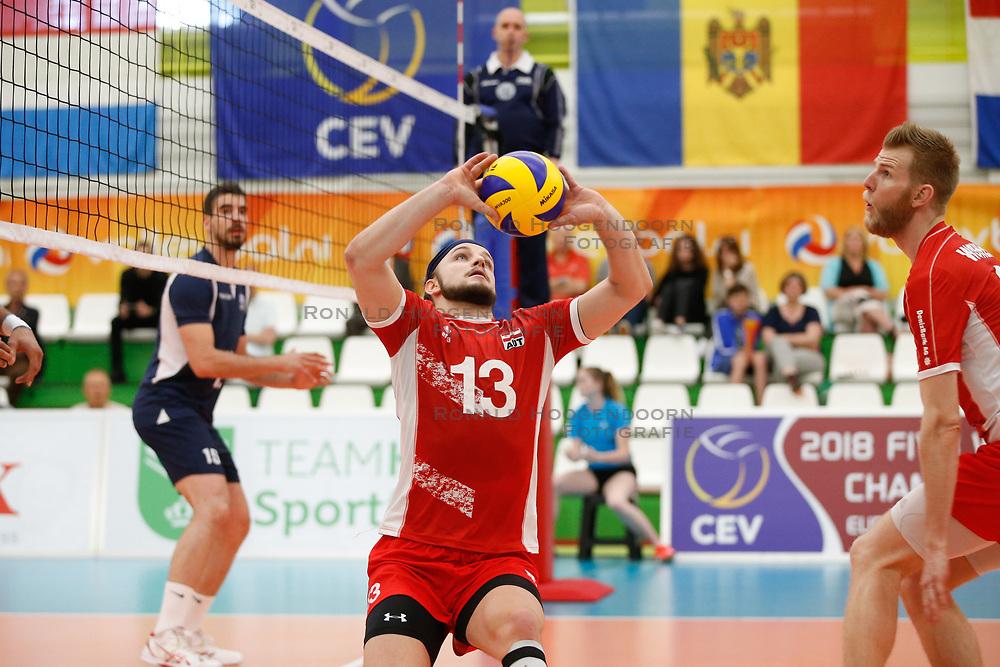 20170524 NED: 2018 FIVB Volleyball World Championship qualification, Koog aan de Zaan<br />Maximilian Thaller (13) of Austria<br />©2017-FotoHoogendoorn.nl / Pim Waslander
