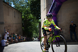 Ane Santesteban Gonzalez (ESP) of Ale-Cipollini Cycling Team rides near the top of the final climb of Stage 5 of the Giro Rosa - a 12.7 km individual time trial, starting and finishing in Sant'Elpido A Mare on July 4, 2017, in Fermo, Italy. (Photo by Balint Hamvas/Velofocus.com)
