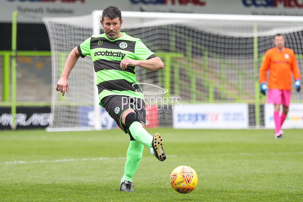 Forest Green Legends Steve Jones during the Trevor Horsley Memorial Match held at the New Lawn, Forest Green, United Kingdom on 19 May 2019.