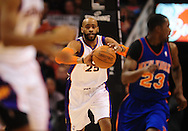 Jan. 7 2011; Phoenix, AZ, USA; Phoenix Suns guard Vince Cater (25) makes a pass against New York Knicks during the first half at the US Airways Center. Mandatory Credit: Jennifer Stewart-US PRESSWIRE.