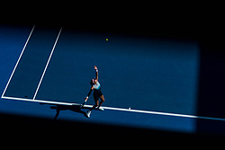 January 21, 2019 - Melbourne, VIC, U.S. - MELBOURNE, VIC - JANUARY 21: GARBINE MUGURUZA (ESP) during day eight match of the 2019 Australian Open on January 21, 2019 at Melbourne Park Tennis Centre Melbourne, Australia (Photo by Chaz Niell/Icon Sportswire (Credit Image: © Chaz Niell/Icon SMI via ZUMA Press)