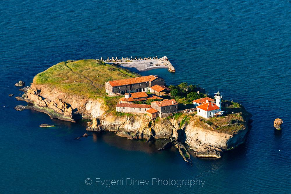 Aerial photo of Bolshevik island