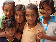 A few of the children who followed us through the workshops in Bagru, Rajasthan.