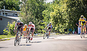 Jens Voigt pushing the pace through the neighborhoods in Stage 7 from Golden to Denver, of the USA Pro Challenge.