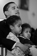 Illinois State Senator and U.S. Senate candidate Barack Obama campaigns in Chicago Saturday March 6, 2004. ..