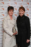 Deirdre Gavin of Knocknacarra nd Ann Cormican Claregalway at the screening of Girl Rising hosted by World Vision at An Taibhdearc on Thursday night. Photo:- Andrew Downes.