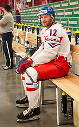 12.05.2013, Globe Arena, Stockholm, SWE, IIHF, Eishockey WM, Kanada vs Tschechische Republik, im Bild Czech Republic (Tjeckien) 12 Jiri Novotny (Lev Prague) // during the IIHF Icehockey World Championship Game between Canada and Czech Republic at the Ericsson Globe, Stockholm, Sweden on 2013/05/12. EXPA Pictures © 2013, PhotoCredit: EXPA/ PicAgency Skycam/ Johan Andersson..***** ATTENTION - OUT OF SWE *****