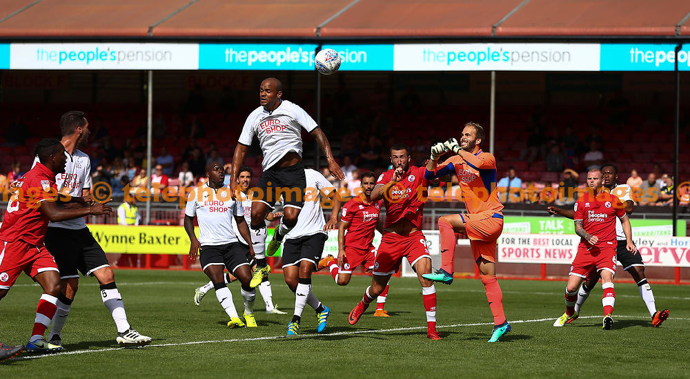 Crawley town attack during the pre season friendly between Crawley Town and KSV Roeselare at The Broadfield Stadium, Crawley , UK. 28 July 2018.
