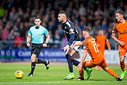 Dundee forward Sofien Moussa (#9) evades the challenge of Dundee United defender Jamie Robson (#17) during the Betfred Scottish Cup match between Dundee and Dundee United at Dens Park, Dundee, Scotland on 9 August 2017. Photo by Craig Doyle.