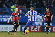 Bruno Saltor, Brighton defender during the Sky Bet Championship match between Sheffield Wednesday and Brighton and Hove Albion at Hillsborough, Sheffield, England on 14 February 2015.