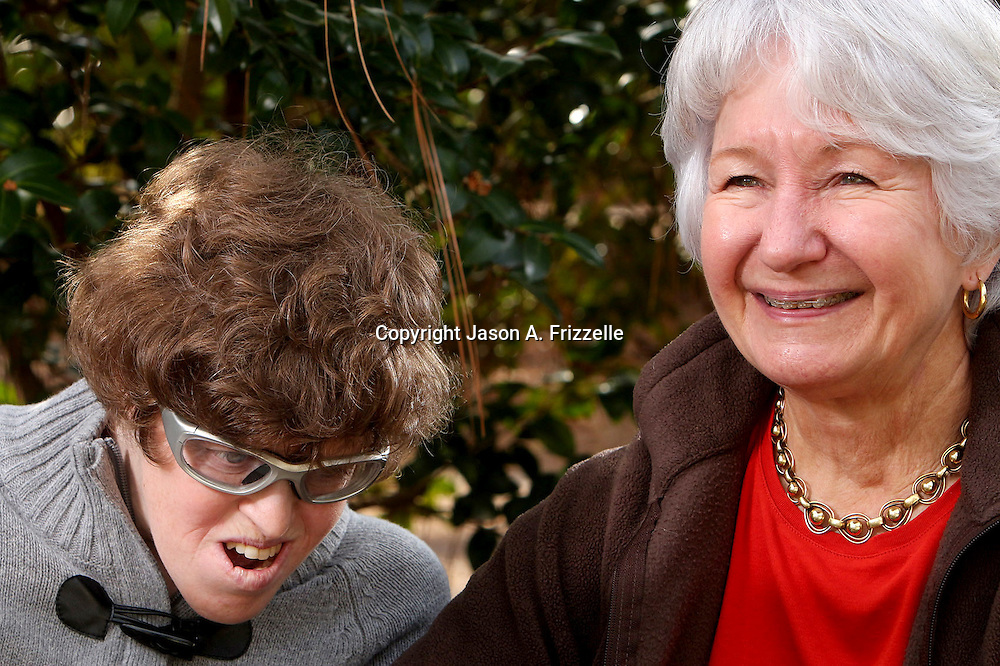 Celina Froelich, left poses for a portrait with her mother Alina Szmant Sunday January 4, 2014 at the Easter Seals/UCP of North Carolina Lakewood Place Group Home where Froelich resides in Wilmington, N.C. (Jason A. Frizzelle)