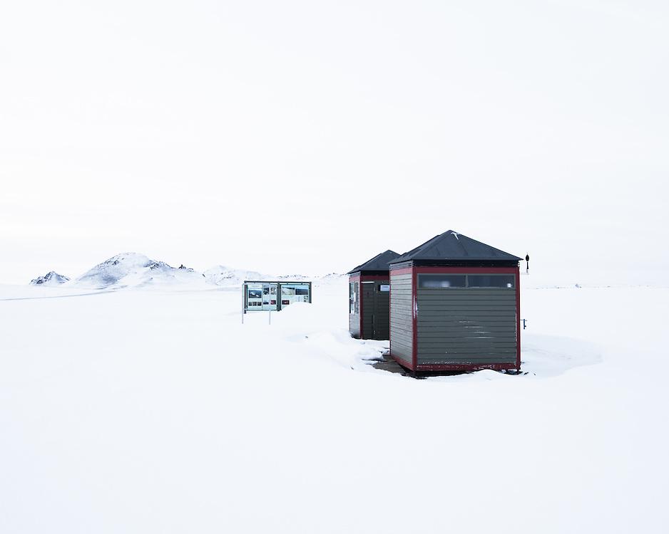 Buildings, Leirhnjukur, Northern Iceland