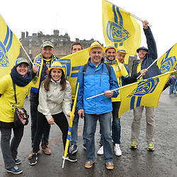 Clermont fans at Edinburgh Castle before the European Champions Cup Final match between Clermont Auvergne and Saracens at Murrayfield Stadium on May 13, 2017 in Edinburgh, Scotland. (Photo by Dave Winter/Icon Sport)