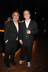 Left to right, SIR ALAN YENTOB and HARRY ENFIELD at 'Figures of Speech' a fundraising gala dinner in aid of the ICA held at the Lawrence Hall, Greycoat Street, London on 27th February 2008.<br />