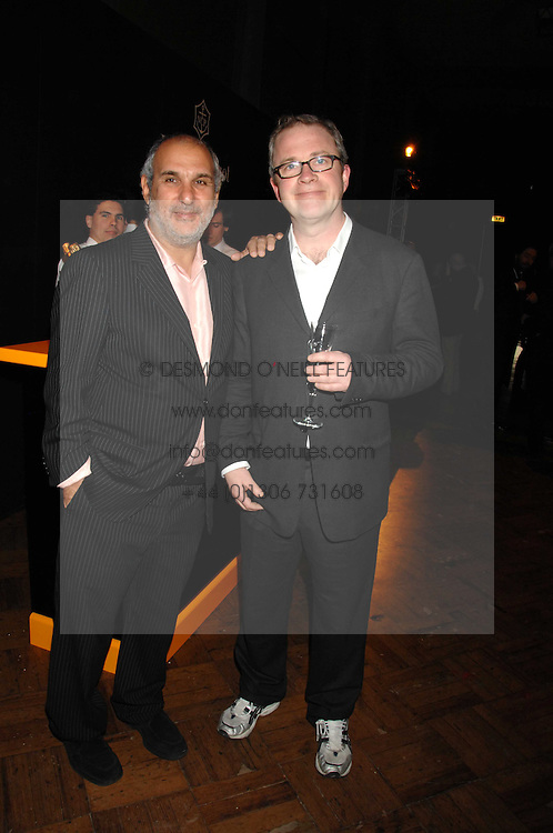 Left to right, SIR ALAN YENTOB and HARRY ENFIELD at 'Figures of Speech' a fundraising gala dinner in aid of the ICA held at the Lawrence Hall, Greycoat Street, London on 27th February 2008.<br /><br />NON EXCLUSIVE - WORLD RIGHTS