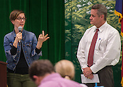Houston ISD Trustee Anna Eastman comments during a Bond community meeting at Garden Oaks Elementary School, February 2, 2016.
