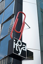 Detail of sign at new flagship store of ItoYa stationary shop in Ginza Tokyo Japan