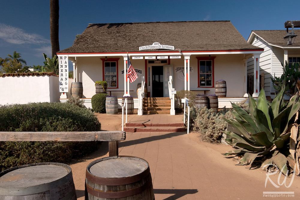 Casa de Pedrorena de Altamirano Jewelry Store, Old Town San Diego SHP, California