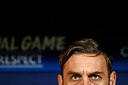 AS Roma's Italian midfielder Daniele De Rossi gestures during the UEFA Champions League, Group C football match between Atletico Madrid and AS Roma on November 22, 2017 at the Wanda Metropolitano in Madrid, Spain - Photo Benjamin Cremel / ProSportsImages / DPPI