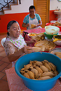La Tia Anita, Tamale makers, Vallarta Food Tours, El Pitillal, Puerto Vallarta, Jalisco, Mexico