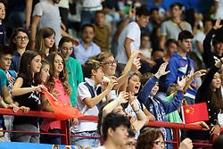 Little fans enjoy in Palaflorio