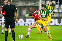 ALKMAAR - 04-12-2015, AZ - ADO Den Haag, AFAS Stadion, 0-1, AZ speler Joris van Overeem, ADO Den Haag speler Edouard Duplan.