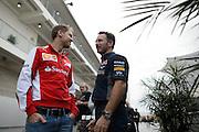 October 23-25, 2015: United States GP 2015: Sebastian Vettel (GER), Ferrari, Christian Horner, team principal of Red Bull Racing