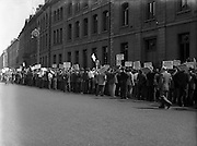 Barmen's Protest Parade to Guinness Brewery.19/07/1955