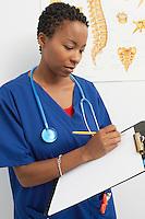 Female nurse working in hospital
