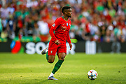Portugal defender Nelson Semedo (20) on the ball during the UEFA Nations League match between Portugal and Netherlands at Estadio do Dragao, Porto, Portugal on 9 June 2019.