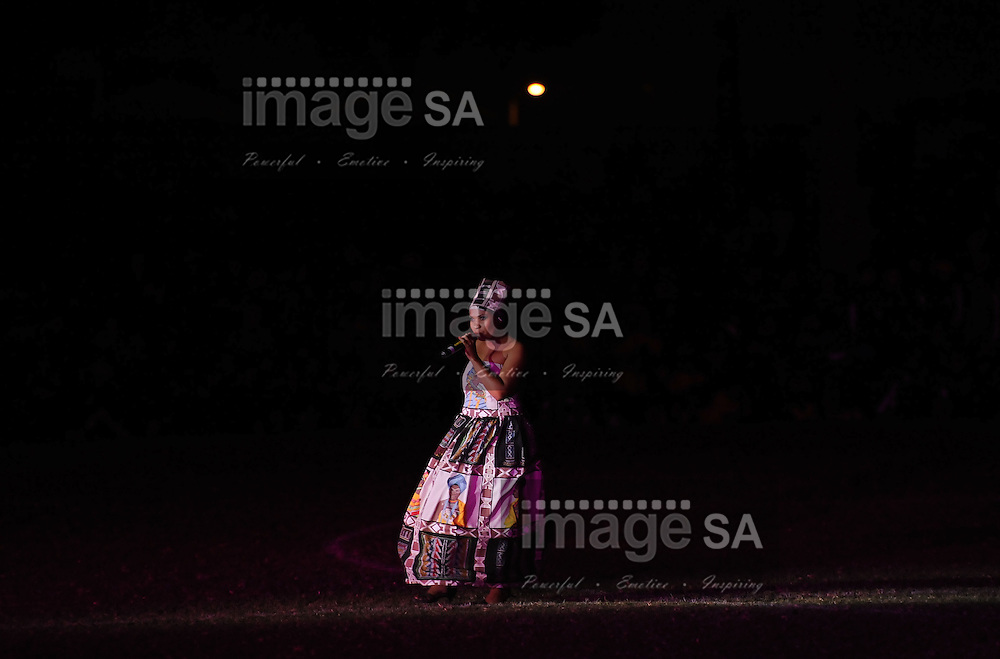 CAPE TOWN, South Africa - Friday 29 March 2013, Felicity Kiran during the opening ceremony of the 25th Metropolitan Premier Cup soccer tournament taking place at Erica Park Sports Complex in Belhar..Photo by Roger Sedres/ ImageSA