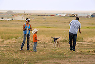 Rocky Boy Rodeo-kids-Indians-families-roping-Rocky Boy Reservation-Montana