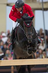 Dreher Hans Dieter (GER) - Embassy II<br /> Longines Global Champions Tour of Antwerpen 2014<br /> © Dirk Caremans
