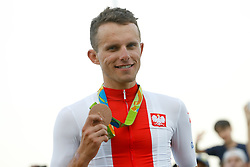 Bronze medalist Rafal Majka of Poland holds his medal during the medal ceremony of the Men's Road Race at the Cycling Road event during the Rio 2016 Olympic Games at Fort Copacabana, Rio de Janeiro, Brazil on August 6, 2016. Photo by Giuliano Bevilacqua/ABACAPRESS.COM